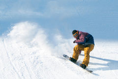 Jazda na snowboardzie przedstawienie Zdjęcie Stock