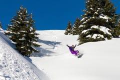 Jazda na snowboardzie zabawa Obraz Royalty Free