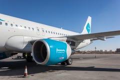 Jazeera Airways samolot w Kuwejt Zdjęcia Stock