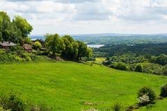 Jazia wzgórza krajobraz, Kent Zdjęcia Royalty Free