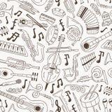 Jazz - άνευ ραφής υπόβαθρο Στοκ Εικόνες