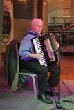 Jazz accordion player Stock Photography