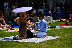 Jazz Age Lawn Party New York Immagine Stock Libera da Diritti