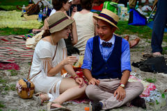 Jazz Age Lawn Party New York stock photo