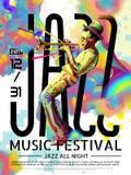 Jazz all night poster Stock Photos