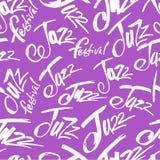 jazz Bürsten Sie den Stift, der nahtloses Muster beschriftet Vektortintenaufschrift Moderne Art der Kalligraphie Klavier-Anmerkun vektor abbildung