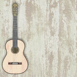 Jazz background. Abstract musical accoustic guitar on a light background Royalty Free Stock Images