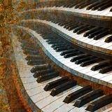 Jazz background. Abstract musical background piano keys on a brown Stock Photo