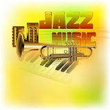 Jazz background music Royalty Free Stock Photography