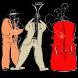 Jazz band. Vector illustration of a Jazz band vector illustration