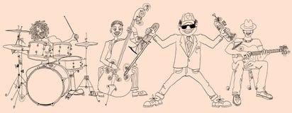Jazz band. Vector illustration of a Jazz band Stock Photography