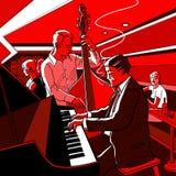Jazz band. Vector illustration of a Jazz band stock illustration