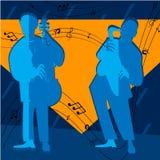 Jazz-band avec le chanteur, saxophone Photographie stock libre de droits