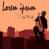 Jazz-band avec le chanteur, saxophone Photo libre de droits