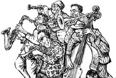 Jazz band royalty free illustration