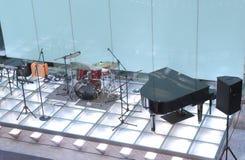 Jazz Band etapp Arkivfoto
