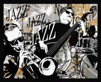 Jazz band on a grunge background. Vector illustration vector illustration