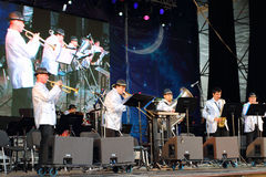 Jazz band at open air festival White Nights Royalty Free Stock Photo