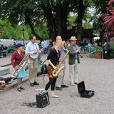 Jazz band in the park. At Karl XIIs Square in Stockholm Stock Photography