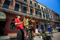A jazz band plays jazz melodies The French Quarter Stock Photography