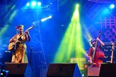 Jazz Band From Portugal Performing te Kuching-Waterkant Jazz Festival In Kuching, Sarawak royalty-vrije stock afbeelding