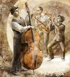Jazz band on the retro background Royalty Free Stock Image