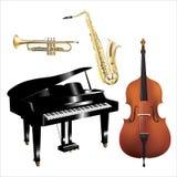 Jazz_band_set Стоковая Фотография RF