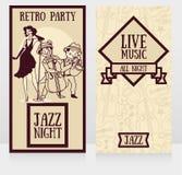 jazz-band sur des affiches de partie Photographie stock