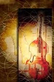 Jazz bass background. Poster jazz bass in casual and modern background Royalty Free Stock Image