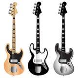 Jazz_bass_guitar_set 库存照片