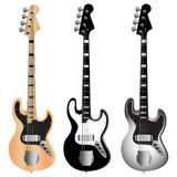 Jazz_bass_guitar_set Stock Photos