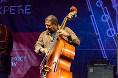 Jazz bassist Buster Williams performing live at Nisville Jazz Festival, August 11. 2016 Royalty Free Stock Images