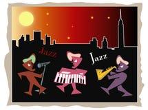 Jazz bij nacht Stock Foto