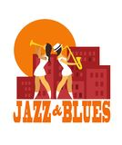 Jazz and blues Royalty Free Stock Images