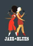 Jazz and blues. Abstract jazz band, Jazz music party invitation design vector illustration vector illustration