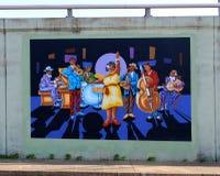 Jazz Blues Big Band Mural på James Road i Memphis, Tennessee Arkivfoto