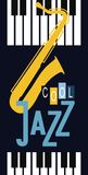 Jazz and blues festival poster Royalty Free Stock Image