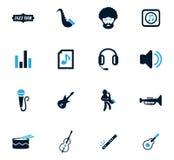 Jazz and Blues icons set Stock Image