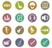 Jazz and Blues icons set Stock Photo