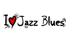 Jazz Blues music style love. Creative design of Jazz Blues music style love stock illustration