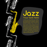 Jazz and blues poster Stock Photography