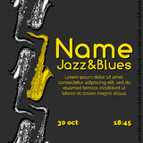 Jazz and blues poster Stock Image