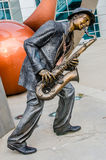 Jazz Blues Saxaphone Player Royaltyfria Bilder