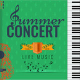 Jazz and Blues summer music consert. Poster background template. Stock Photo