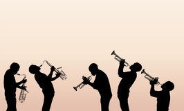 Jazz brass musician Stock Photography