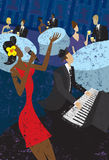 Jazz Club Fotografía de archivo libre de regalías