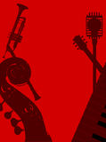 Jazz Club Background Illustration Stock