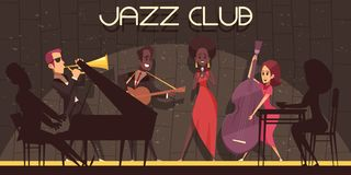 Jazz Club Background Composition Illustration Stock