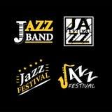 Jazz-Club-Musicallivefestivalvektorsaxophon- und -klavierikonen lizenzfreie abbildung