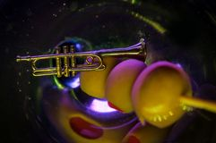 Jazz Club Trumpet Martini stock foto